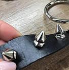 Чокер с кольцом и шипами, панк-рок украшение на пряжке, черный, фото 2