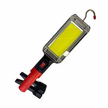 Универсальный аккумуляторный фонарь с магнитом BL 8859 B COB 2*18650 BATTERY USB CHARGE