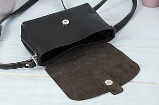 Сумка женская. Кожаная сумочка Итальяночка Кожа Итальянский краст цвет Кофе, фото 3