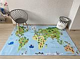 """Бесплатная доставка! Ковер """"Карта мира""""  (2*3 м), фото 6"""