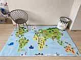"""Бесплатная доставка! Ковер """"Карта мира""""  (2*3 м), фото 2"""
