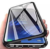 Магнитный чехол с защитным стеклом для Samsung Galaxy A10s цвет Чёрный