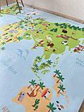 """Бесплатная доставка! Ковер """"Карта мира""""  (2*3 м), фото 4"""