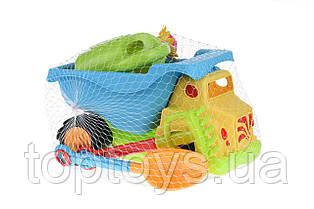 Набір для гри з піском Same Toy Вантажівка жовтий 6 предметів (973Ut-2)