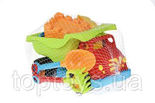 Набір для гри з піском Same Toy Вантажівка червоний 6 предметів (973Ut-1)