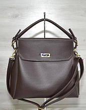 Сумка женская классическая каркасная сумка Aliri-540-05 темно коричневая