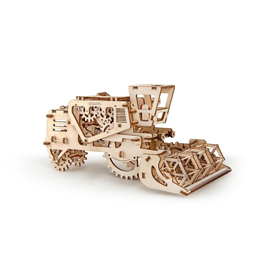 Механічний 3D пазл «Комбайн» UGears (70010)