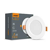 LED светильник Back встраиваемый круглый VIDEX 4W 5000K VIDEX