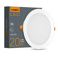 LED светильник Back встраиваемый круглый VIDEX 20W 5000K VIDEX