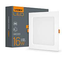 LED светильник Back встраиваемый квадрат VIDEX 16W 5000K VIDEX
