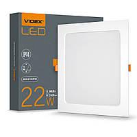 LED светильник Back встраиваемый квадрат VIDEX 22W 5000K VIDEX