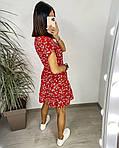 Сукня з гумкою на талії і квітковим принтом, фото 2