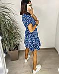 Сукня з гумкою на талії і квітковим принтом, фото 3