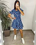 Сукня з гумкою на талії і квітковим принтом, фото 4