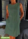 Платье лен с карманами, фото 7