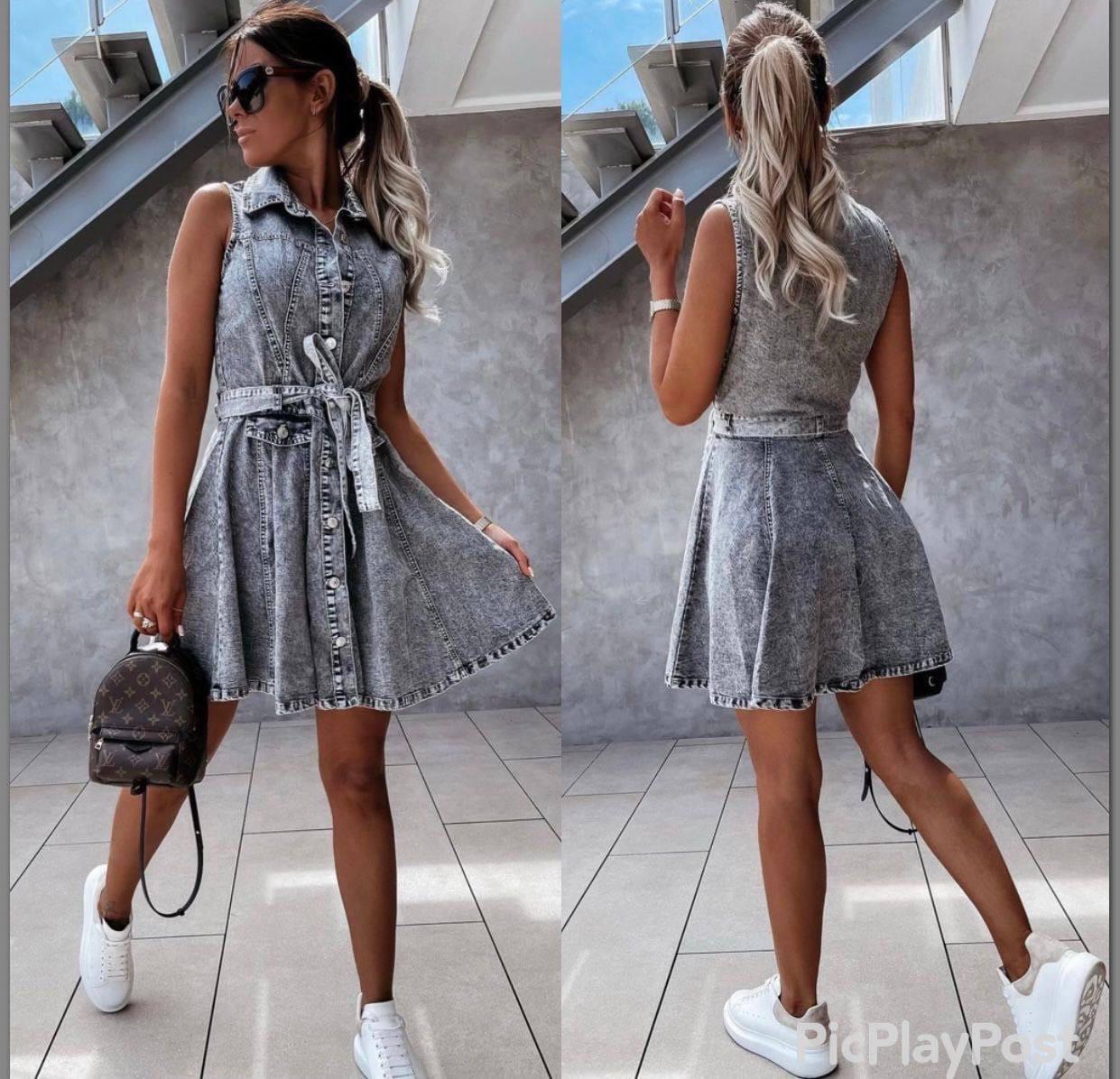 Джинсове сукню