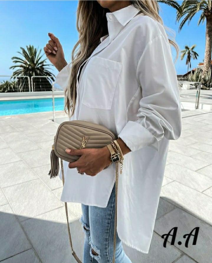 Женская удлиненная рубашка (Батал)