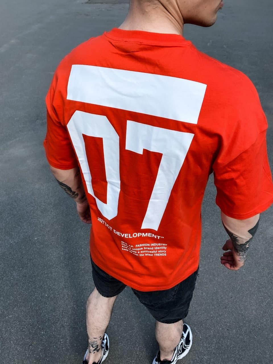 Мужская футболка Perfect Development 07 (красная) Sf195