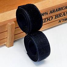 Лента-липучка, 2 см, цвет черный, 50 см