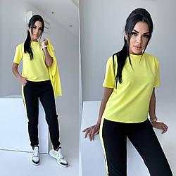 Женский спортивный костюм тройка штаны+футболка+кофта