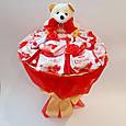 Букет из конфет и игрушки Сладкий рай подарок на день рождения ребенку / девушке, фото 3