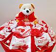 Букет из конфет и игрушки Сладкий рай подарок на день рождения ребенку / девушке, фото 4