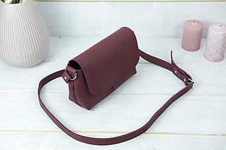 Женская кожаная сумка Итальяночка, натуральная кожа Grand, цвет Бордо, фото 3