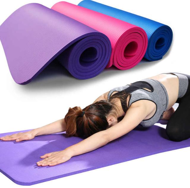 Йогамат NBR 1см коврик для йоги фитнеса 173 х 61