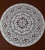 Многоразовый трафарет из пластика узор Мандала трафарет под покраску и штукатурку для стен 75 см