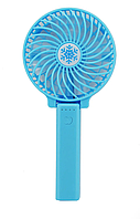 Ручний вентилятор на підставці fan 2 (ручка) - синій