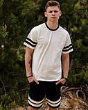 Чоловічий літній костюм шорти + футболка Stripe Ф, фото 2