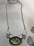 Кольє лабрадор кулон з каменем лабрадор в сріблі натуральний лабрадор намисто з лабрадором Індія, фото 5