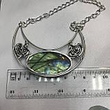 Кольє лабрадор кулон з каменем лабрадор в сріблі натуральний лабрадор намисто з лабрадором Індія, фото 6