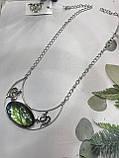 Кольє лабрадор кулон з каменем лабрадор в сріблі натуральний лабрадор намисто з лабрадором Індія, фото 4