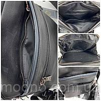 Чоловіча шкіряна сумка на і через плече на два відділення H. T. Leather чорна, фото 9