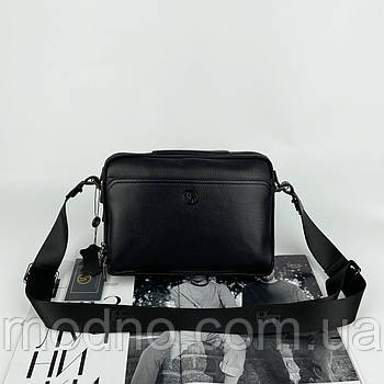 Мужская кожаная сумка на и через плечо на два отделения H.T. Leather