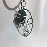 2062 Срібні сережки Пікассо 925 проби - комплект сережки та підвіска, фото 5