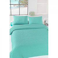 Покрывало пике Eponj Home вафельное 200х235 голубое NН2181631