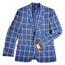 Пиджак брендовый мужской - Blue (синий клетка)