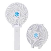 Ручний вентилятор на підставці fan 2 (ручка) - білий