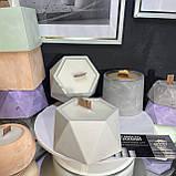 Аромо свеча в кашпо, свеча с деревянным фитилем, призма большая, фото 3