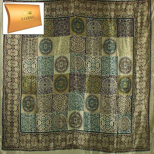 Красивый женский атласный платок размером 92*89 см ETERNO (ЭТЕРНО) ES0406-5-16