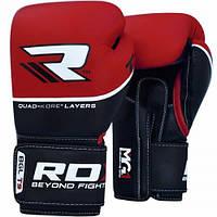 Боксерские перчатки из натуральной кожи. Наполнитель гель RDX красный