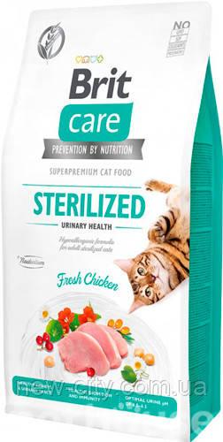 Brit Care Cat GF Sterilized Urinary Health, 7кг (уринари д/стерилизованных)