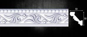 Плинтус потолочный Оптима Декор 401, 32х32х2000 мм