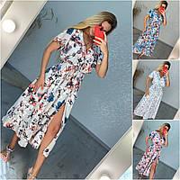 Ванесса, Красивое длинное летнее платье, размер один 44-48 разные цвета