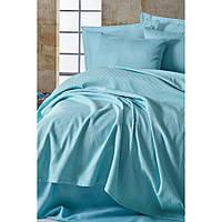 Покрывало пике Eponj Home вафельное 200х235 голубой NН220880