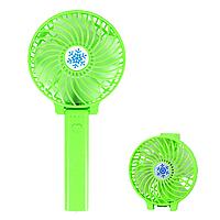 Ручний вентилятор на підставці fan 2 (ручка) - зелений