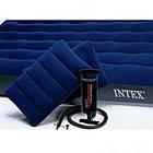 Матрац надувний Intex з насосом + дві подушки 203 х 152 х 25 см, фото 2