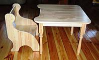 Стульчик+стол детский из дерева сосна НЕДОРОГО fasoff
